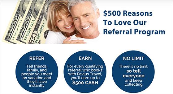 Free cash refer a friend promotion idea