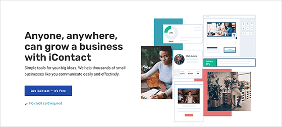 iContact free email marketing service