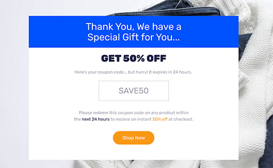 Create a thank you page with seedProd to offer your referral discount