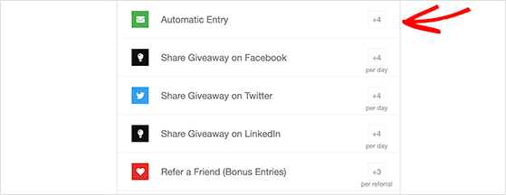 email newsletter giveaway action