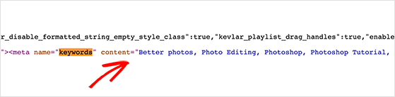 You can find youtube tags by looking in the webpage source code