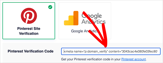 Verify your website on Pinterest