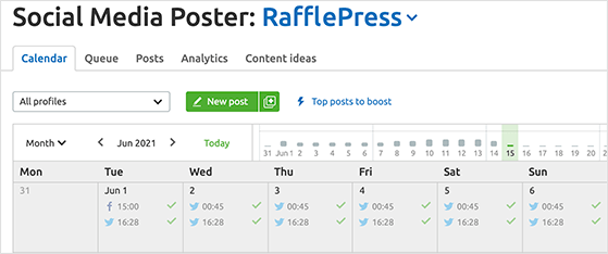 You can schedule pinterest content in advance with the SEMRush social media poster