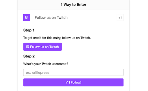 Follow on Twitch to enter