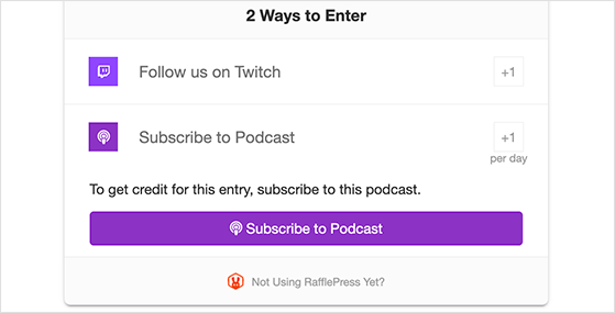 Subscribe to podcast entry