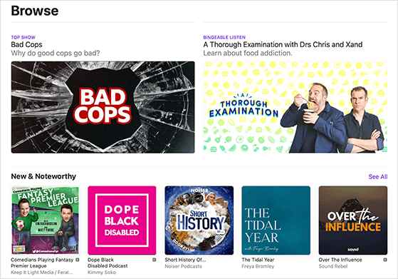Apple Podcasts aggregator
