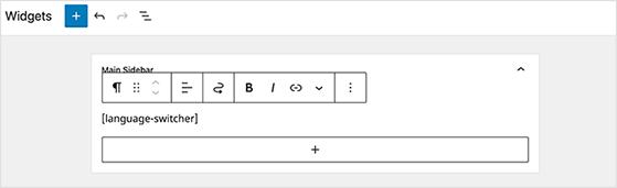 Language switcher shortcode