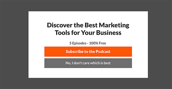 promote your podcast with exit popups