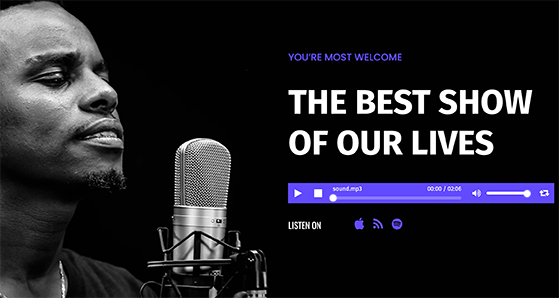 how to promote your podcast with a landing page