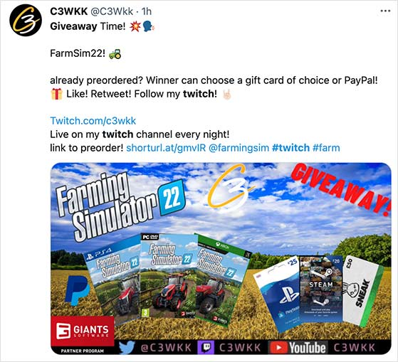 twitch giveaway promotion