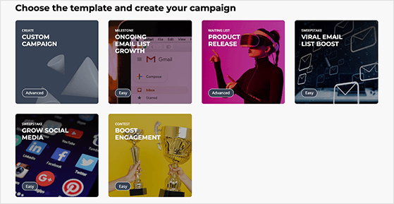 Upviral campaign templates