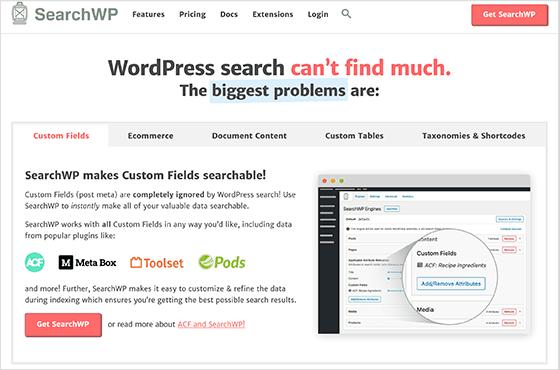 SearchWP is the best WordPress search plugin