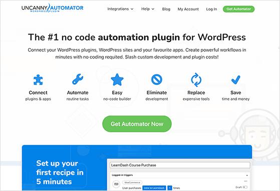 Uncanny Automator is the best WordPress automation plugin